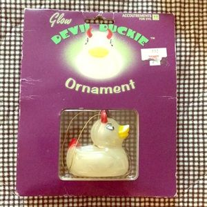 Glow-in-the-Dark Devil Duckie Ornament